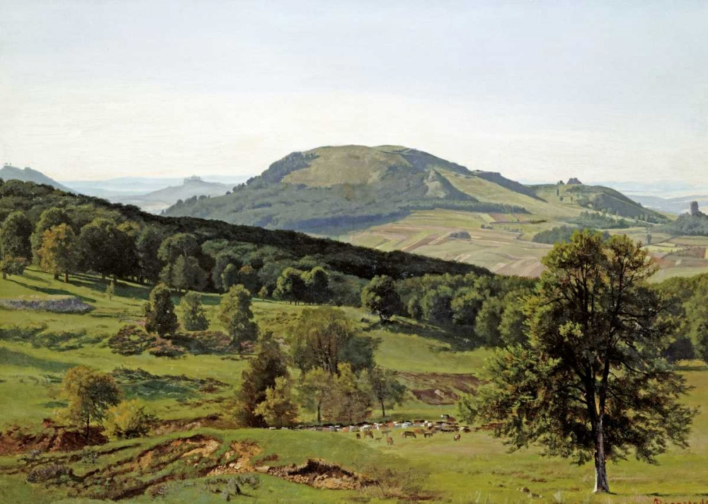 konfigurieren des Kunstdrucks in Wunschgröße Landscape - Hill and Dale von Bierstadt, Albert