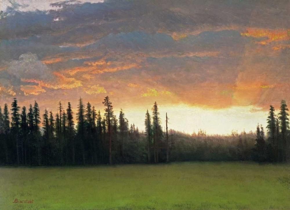 konfigurieren des Kunstdrucks in Wunschgröße California Sunset von Bierstadt, Albert