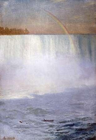 konfigurieren des Kunstdrucks in Wunschgröße Waterfall and Rainbow, Niagara von Bierstadt, Albert