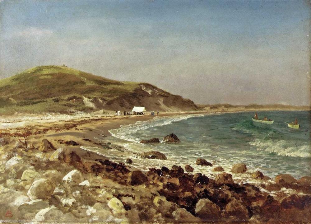 konfigurieren des Kunstdrucks in Wunschgröße Coastal Scene von Bierstadt, Albert