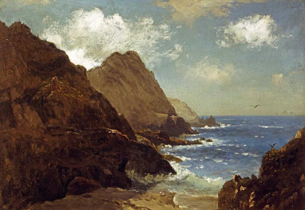 konfigurieren des Kunstdrucks in Wunschgröße Farallon Islands von Bierstadt, Albert