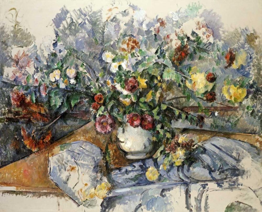 konfigurieren des Kunstdrucks in Wunschgröße A Large Bouquet of Flowers von Cezanne, Paul