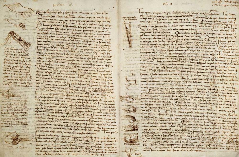 konfigurieren des Kunstdrucks in Wunschgröße The Codex Hammer von Da Vinci, Leonardo