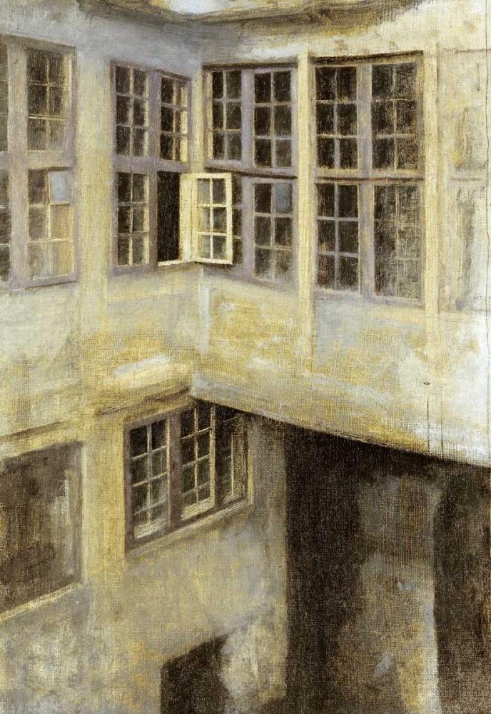 konfigurieren des Kunstdrucks in Wunschgröße The Courtyard at 30 Strandgade von Hammershoi, Vilhelm