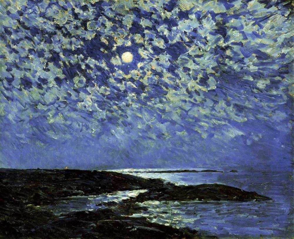 konfigurieren des Kunstdrucks in Wunschgröße Moonlight, Isle of Shoals von Hassam, Childe