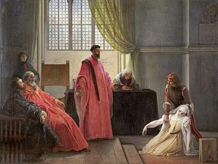 konfigurieren des Kunstdrucks in Wunschgröße Valenza Gradenigo Before The Inquisition von Hayez, Francesco