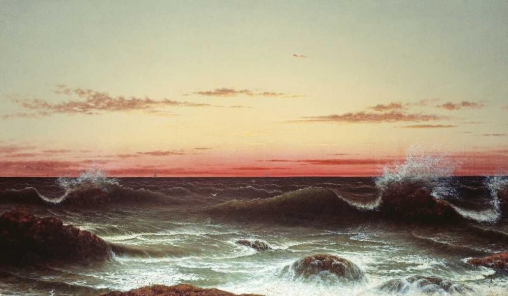 konfigurieren des Kunstdrucks in Wunschgröße Sunset von Heade, Martin Johnson