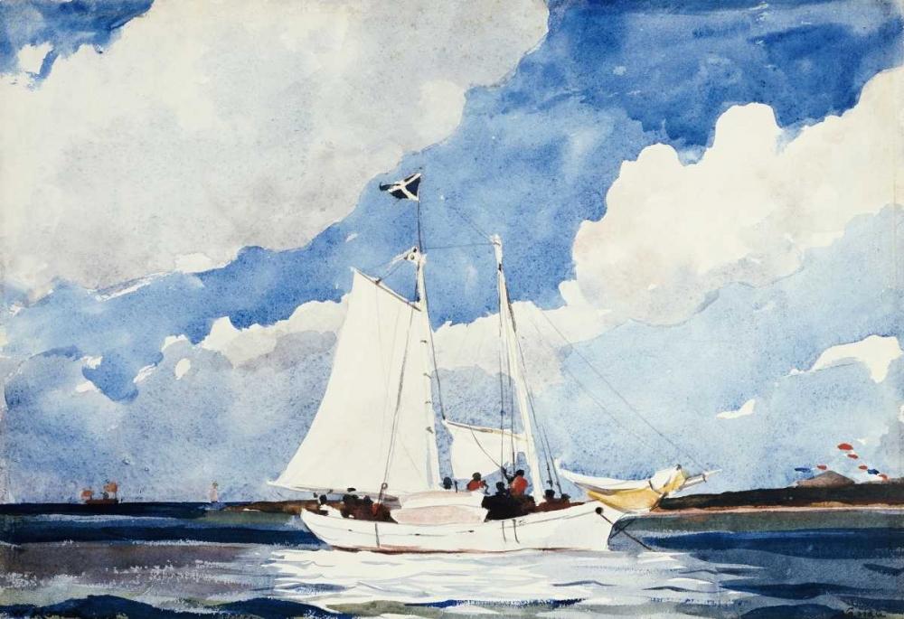 konfigurieren des Kunstdrucks in Wunschgröße Fishing Schooner, Nassau von Homer, Winslow