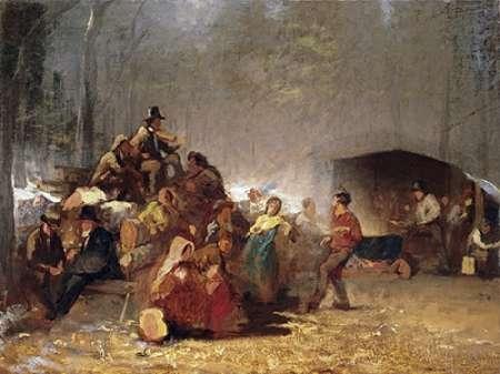 konfigurieren des Kunstdrucks in Wunschgröße The Party In The Maple Sugar Camp von Einzelbilder
