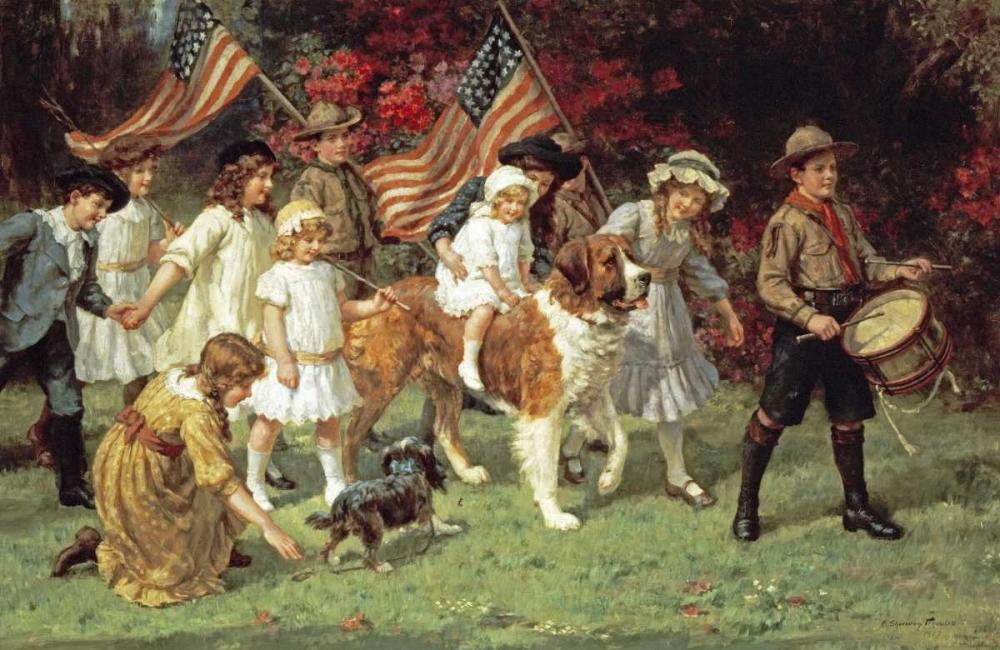 konfigurieren des Kunstdrucks in Wunschgröße American Parade von Einzelbilder