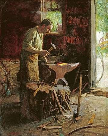 konfigurieren des Kunstdrucks in Wunschgröße Blacksmith von Potthast, Edward Henry
