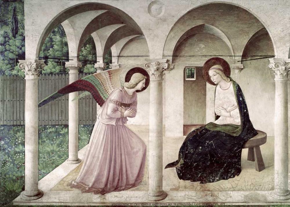konfigurieren des Kunstdrucks in Wunschgröße Annunciation von Angelico, Fra