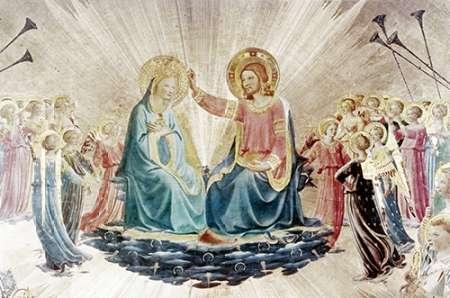 konfigurieren des Kunstdrucks in Wunschgröße Coronation of The Virgin - Detail von Angelico, Fra