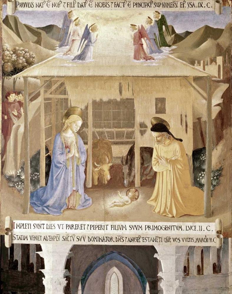 konfigurieren des Kunstdrucks in Wunschgröße Nativity von Angelico, Fra