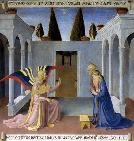 konfigurieren des Kunstdrucks in Wunschgröße Story of The Life of Museumist The Annunciation von Angelico, Fra