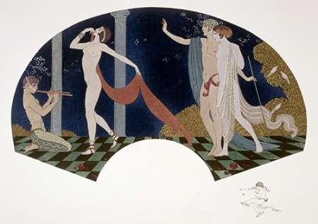 konfigurieren des Kunstdrucks in Wunschgröße Fan: Four Figures von Barbier, Georges