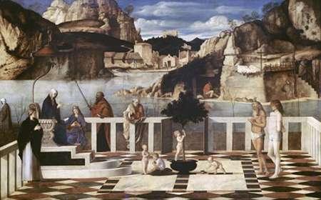 konfigurieren des Kunstdrucks in Wunschgröße Sacred Allegory von Bellini, Giovanni