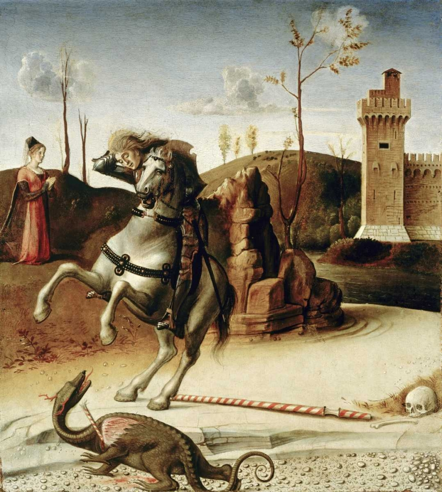 konfigurieren des Kunstdrucks in Wunschgröße Saint George  from The Pala Pesaro von Bellini, Giovanni