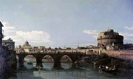 View of The Tiber With The Castel SantAngelo von Bellotto, Bernardo <br> max. 114 x 69cm <br> Preis: ab 10€