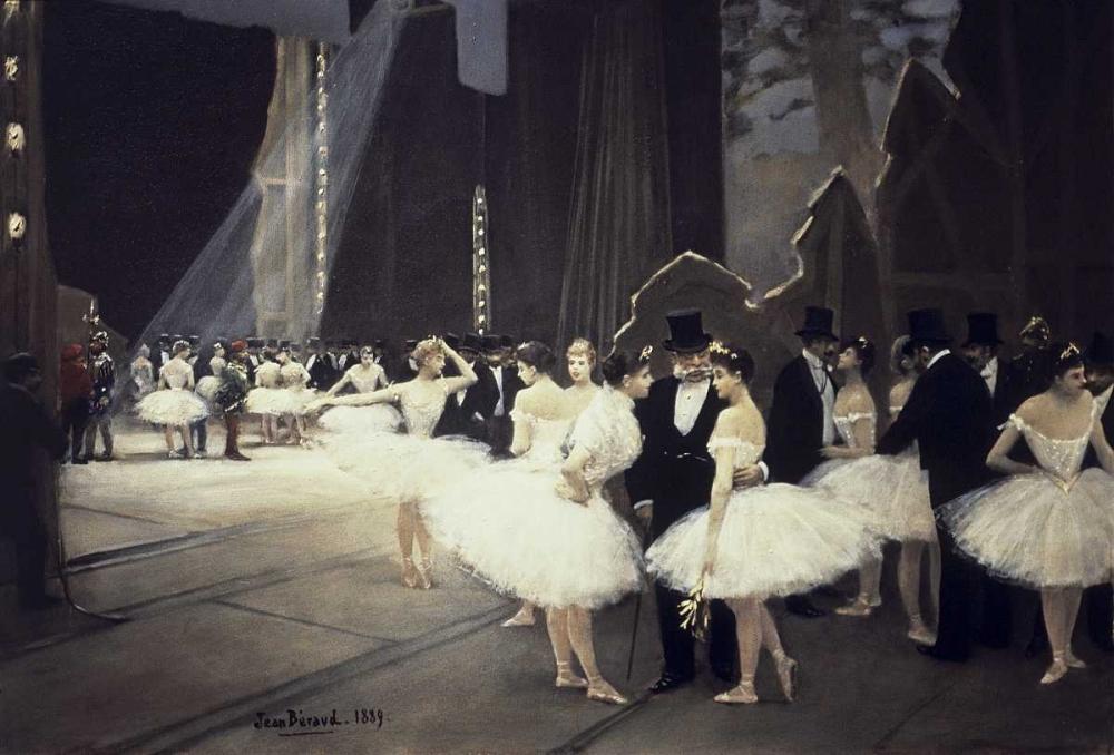 konfigurieren des Kunstdrucks in Wunschgröße Backstage at The Opera von Beraud, Jean