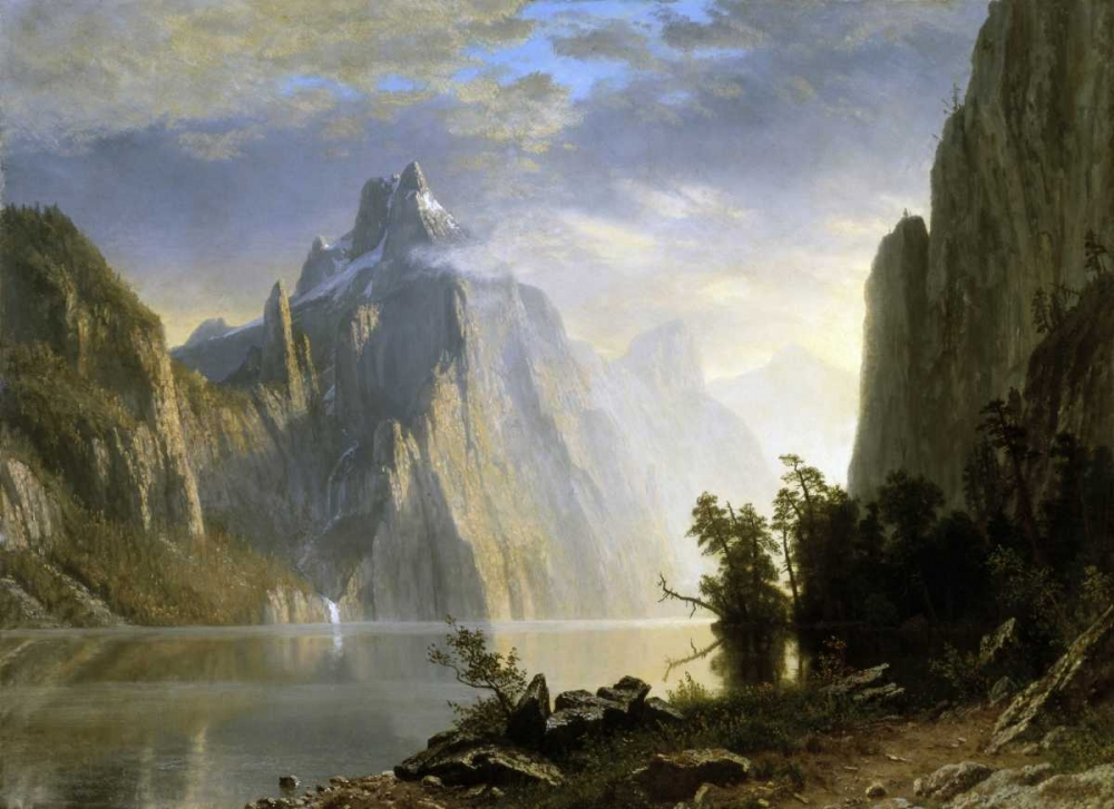konfigurieren des Kunstdrucks in Wunschgröße A Lake in the Sierra Nevada von Bierstadt, Albert