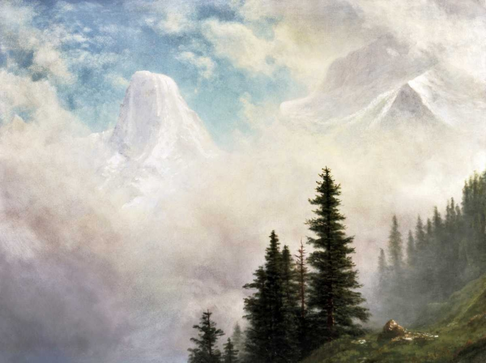 konfigurieren des Kunstdrucks in Wunschgröße High in the Mountains von Bierstadt, Albert