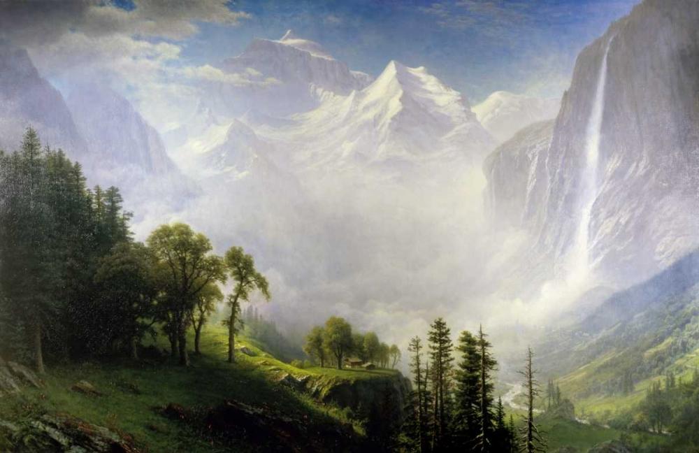 konfigurieren des Kunstdrucks in Wunschgröße Majesty Of The Mountains von Bierstadt, Albert