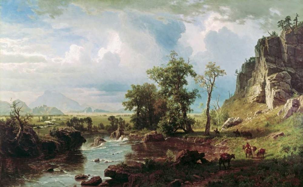 konfigurieren des Kunstdrucks in Wunschgröße Platte River von Bierstadt, Albert