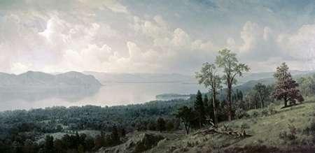 konfigurieren des Kunstdrucks in Wunschgröße View of the Hudson Looking Across the Tappanzee von Bierstadt, Albert