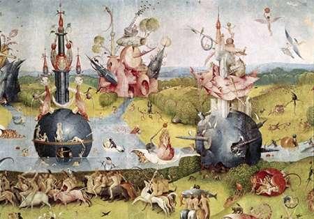 konfigurieren des Kunstdrucks in Wunschgröße Garden of Earthly Delights - Detail Center Panel von Bosch, Hieronymus