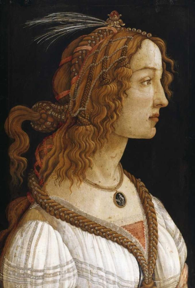 konfigurieren des Kunstdrucks in Wunschgröße Portrait of a Young Woman von Botticelli, Sandro