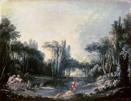 Landscape With a Pond von Boucher, Francois <br> max. 102 x 79cm <br> Preis: ab 10€