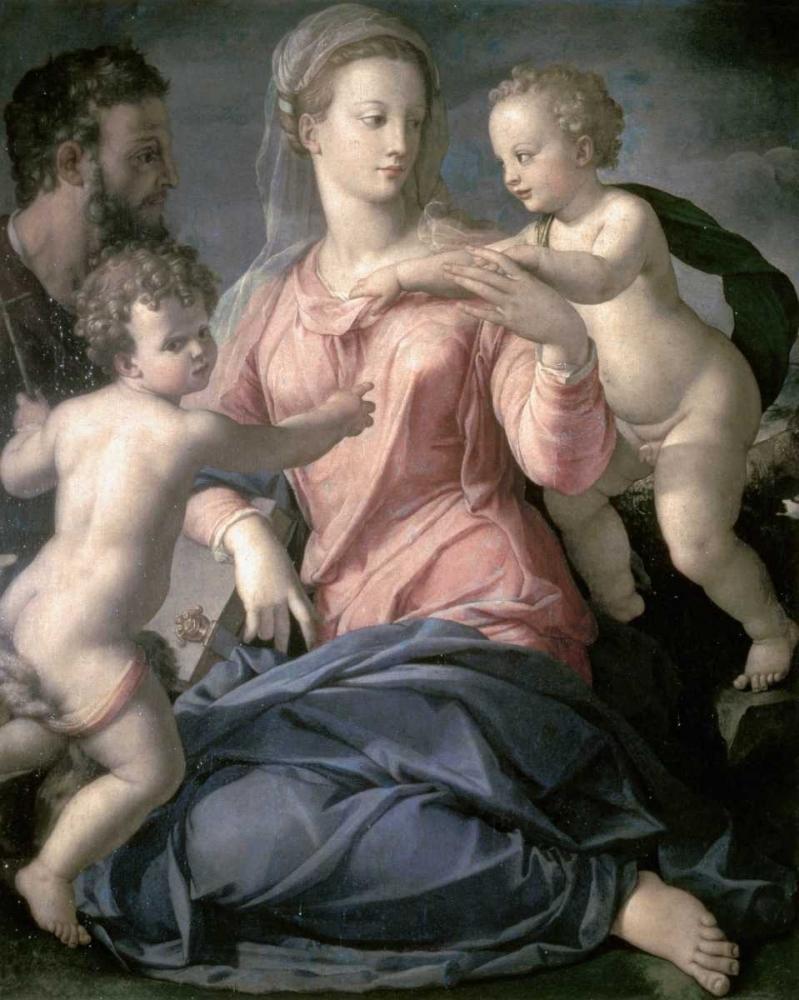 konfigurieren des Kunstdrucks in Wunschgröße Holy Family von Bronzino, Agnolo