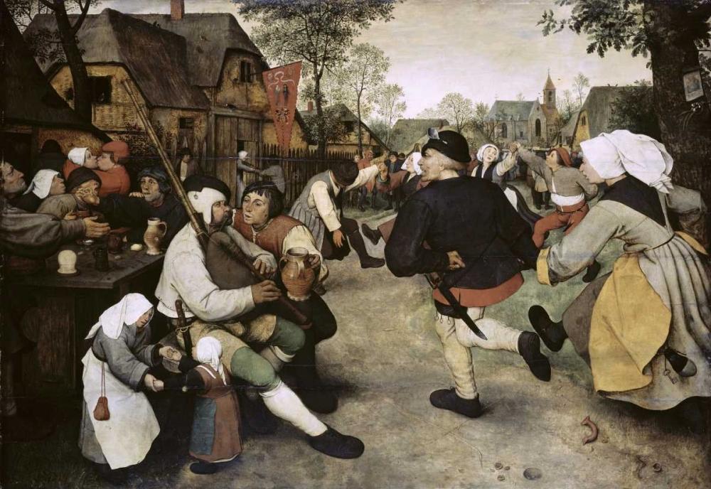 konfigurieren des Kunstdrucks in Wunschgröße Peasants Dancing von Bruegel, Pieter the Elder