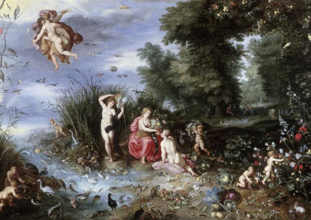konfigurieren des Kunstdrucks in Wunschgröße Allegory of The Elements von Jan Brueghel the Elder