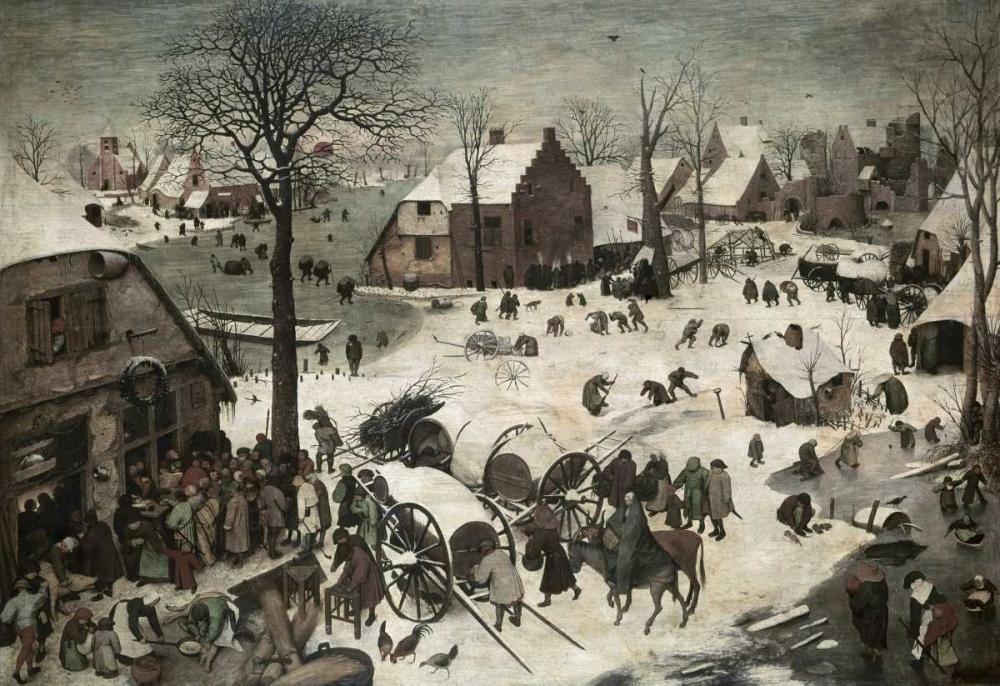 konfigurieren des Kunstdrucks in Wunschgröße Census at Bethlehem von Bruegel, Pieter the Elder