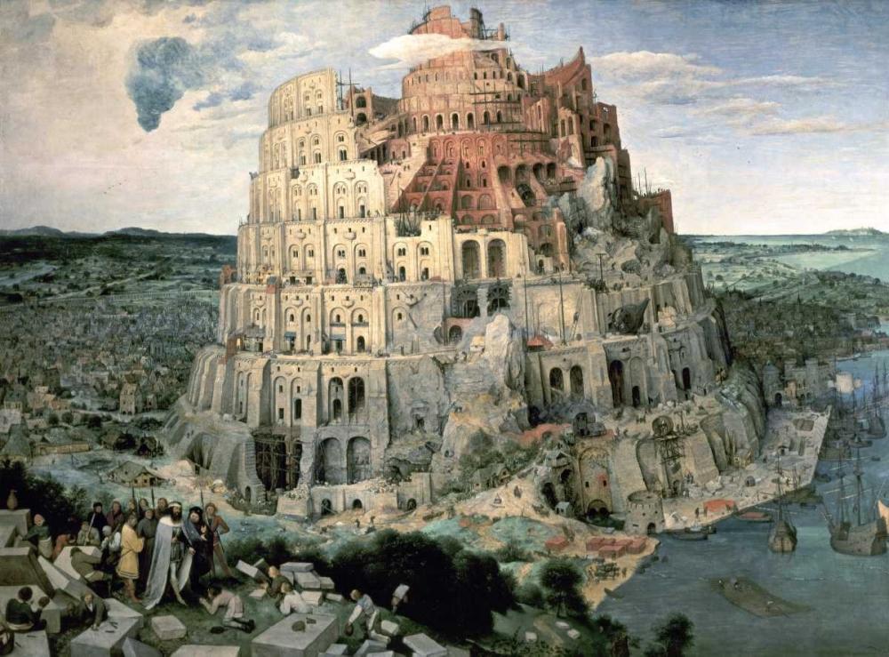 konfigurieren des Kunstdrucks in Wunschgröße Tower of Babel von Bruegel, Pieter the Elder