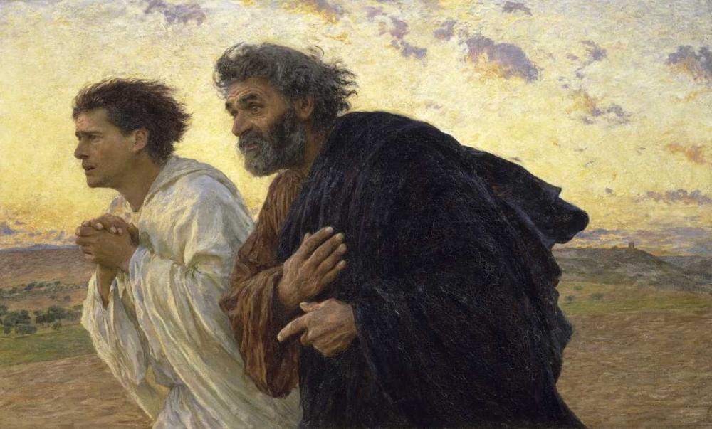 konfigurieren des Kunstdrucks in Wunschgröße Disciples Peter and John Rushing To The Sepulcherthe Morning of The Resurrection von Einzelbilder