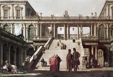 konfigurieren des Kunstdrucks in Wunschgröße Castle Yard von Canaletto