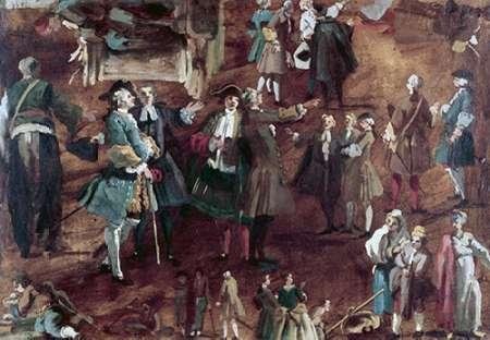 konfigurieren des Kunstdrucks in Wunschgröße Figure Studies von Canaletto
