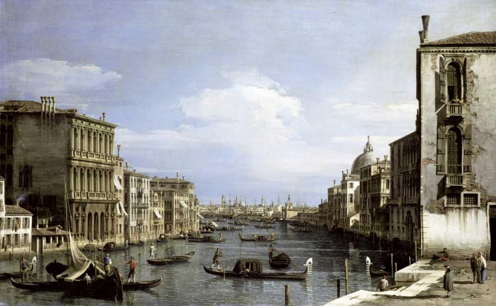 konfigurieren des Kunstdrucks in Wunschgröße Grand Canal, Venice From Camp0 Di San Vio von Canaletto