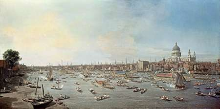 London and The Thames von Canaletto <br> max. 130 x 64cm <br> Preis: ab 10€