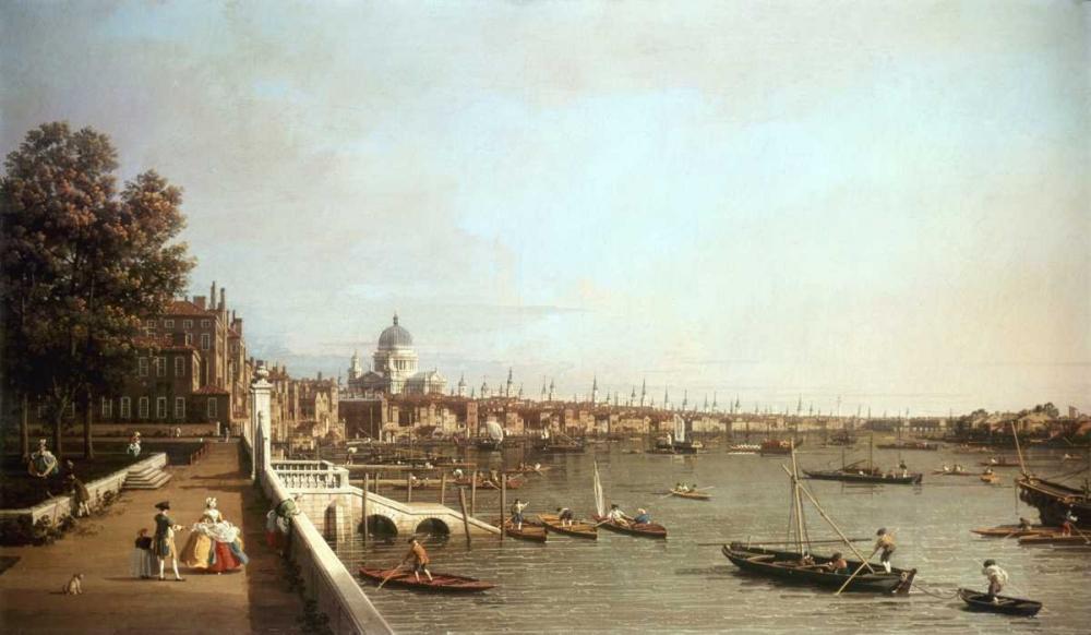 konfigurieren des Kunstdrucks in Wunschgröße London From Somerset House von Canaletto