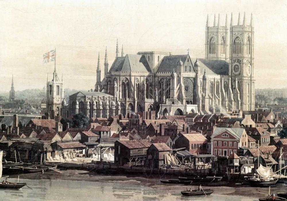 konfigurieren des Kunstdrucks in Wunschgröße View of London With The Thames - Detail von Canaletto