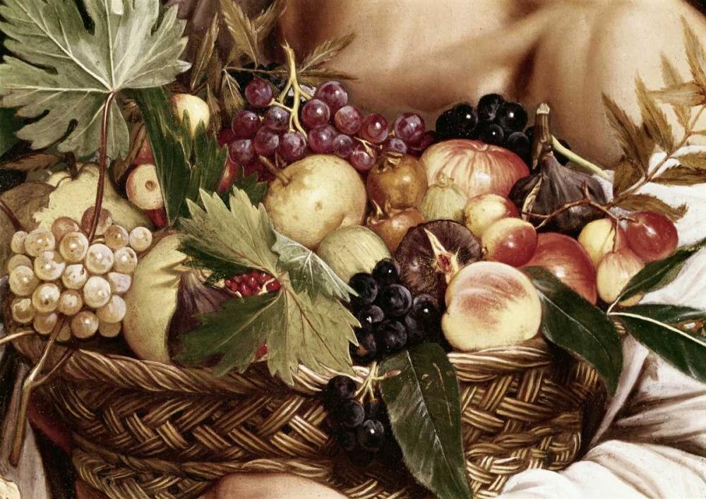 konfigurieren des Kunstdrucks in Wunschgröße Boy With Basket of Fruit - Detail von Caravaggio