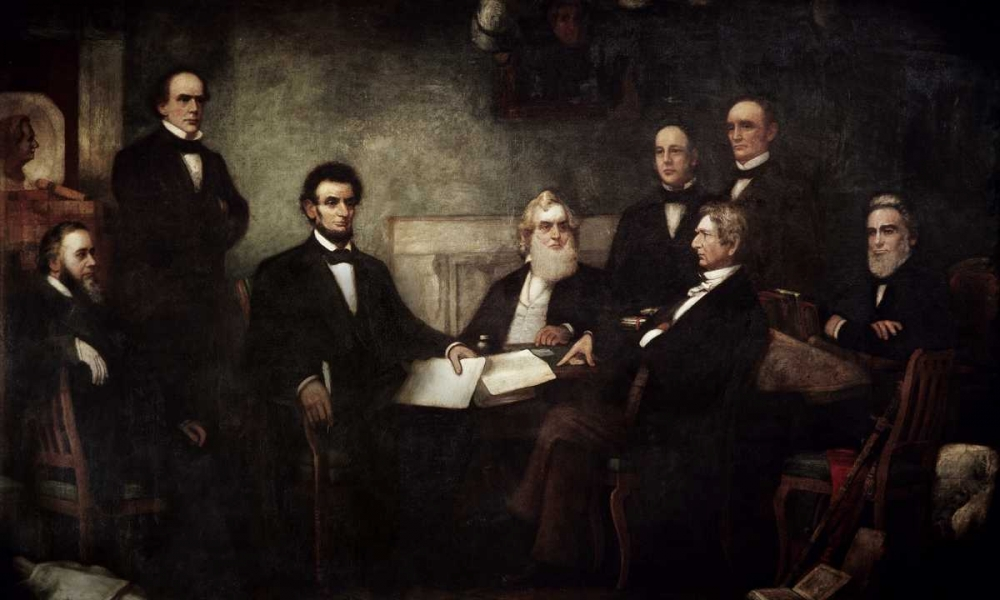 The First Reading of the Emancipation Proclamation von Carpenter, Francis Bicknell <br> max. 114 x 69cm <br> Preis: ab 10€