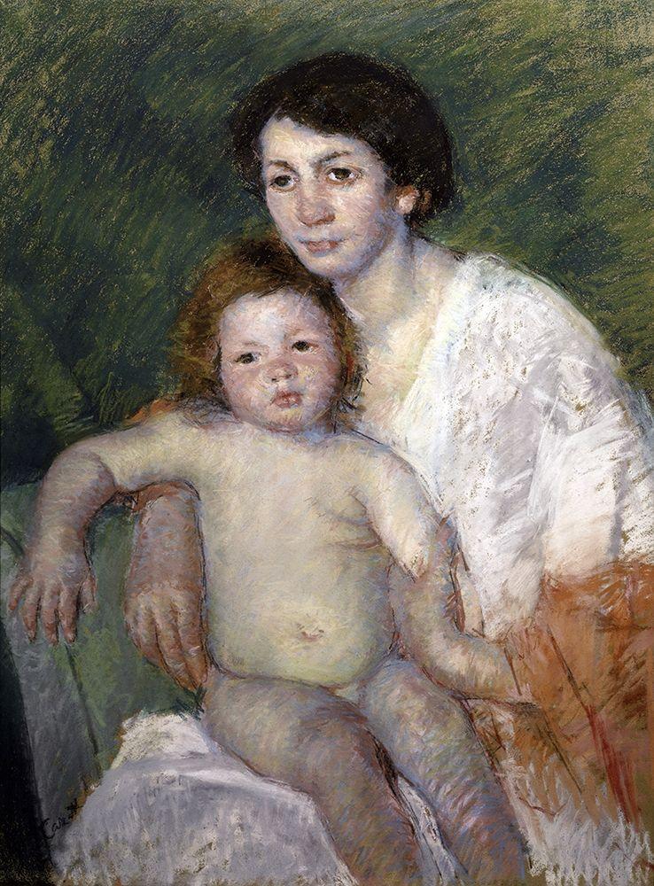 konfigurieren des Kunstdrucks in Wunschgröße After the Babys Bath von Cassatt, Mary
