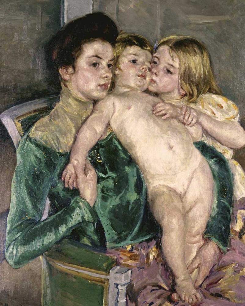 konfigurieren des Kunstdrucks in Wunschgröße Childs Caress von Cassatt, Mary