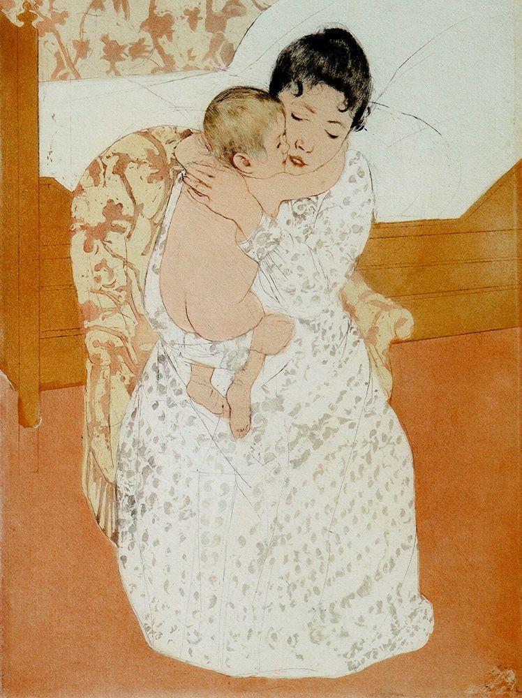 konfigurieren des Kunstdrucks in Wunschgröße Maternal Caress von Cassatt, Mary
