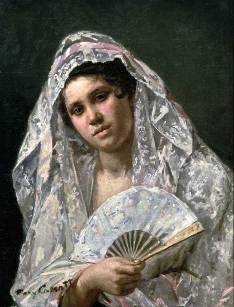 konfigurieren des Kunstdrucks in Wunschgröße Spanish Dancer von Cassatt, Mary